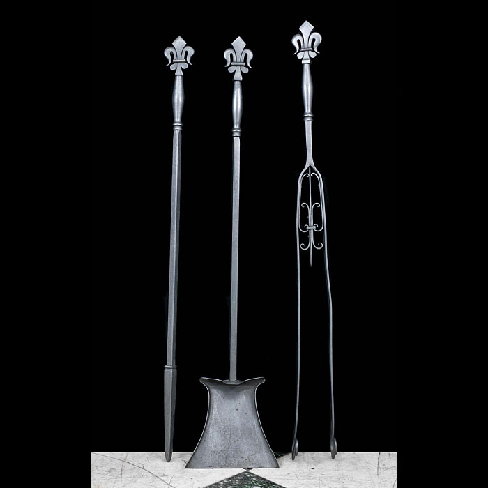 Victorian set of fire tools in the style of Tula