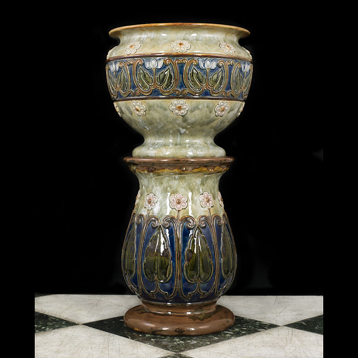 A Doulton Of Lambeth Jardiniere And Stand