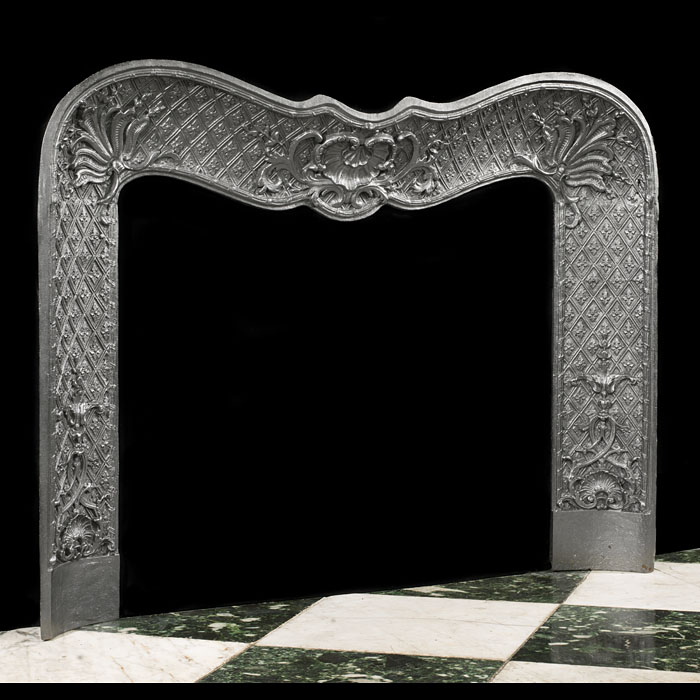 An Antique Victorian cast iron fireplace Insert in the Rococo style