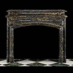 A French Baroque Bolection antique marble fireplace surround