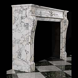 A fireplace surround in the Louis XVI style