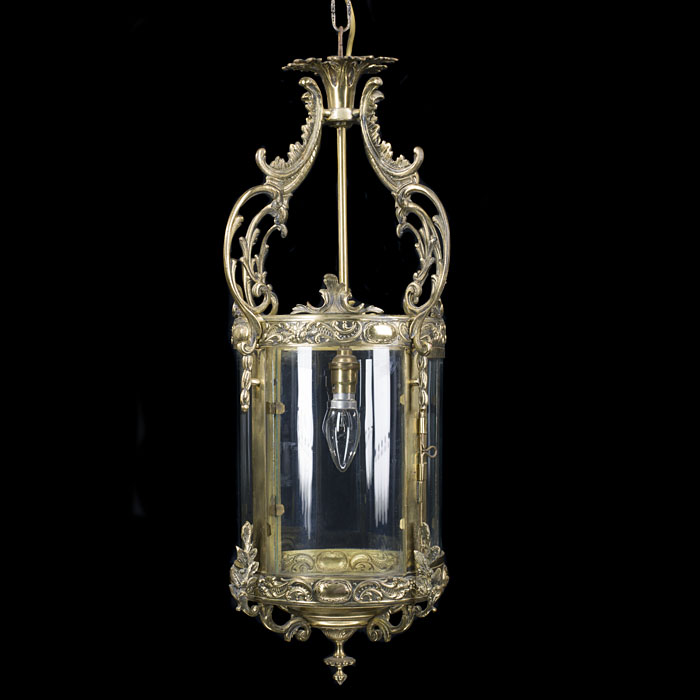 Regency style 20th century brass hall lantern