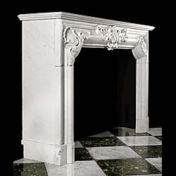 A 19th century French Carrara Marble fireplace mantel