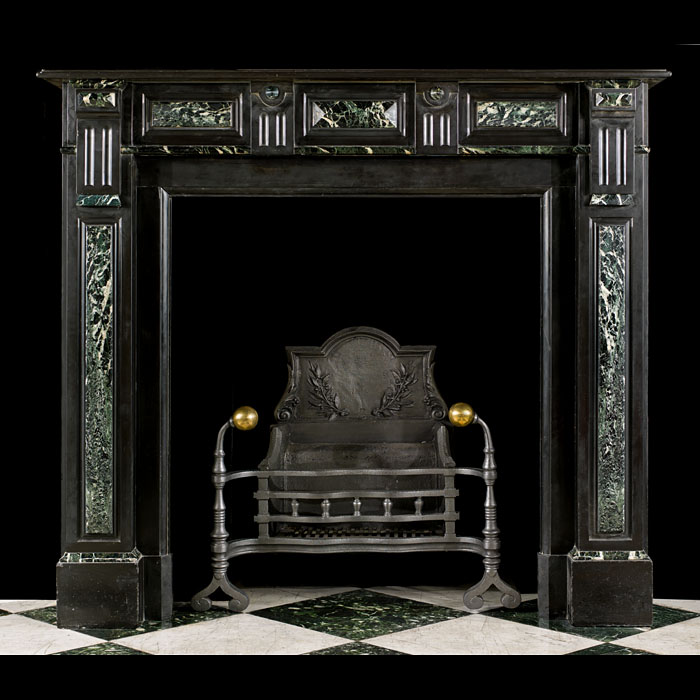 A small 19th century antique marble chimneypiece