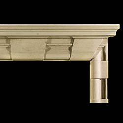 A large 20th century Yorkstone Bolection Chimneypiece