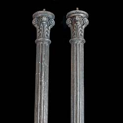 Antique pair of Cast Iron Victorian Columns