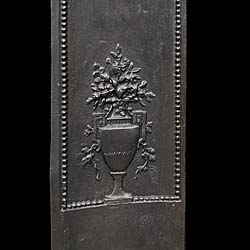 A French cast iron antique fireplace insert