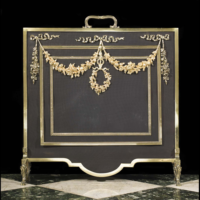 An early 20th century Regency style firescreen