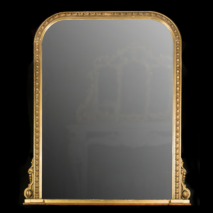 A Large Giltwood Victorian Overmantel Mirror
