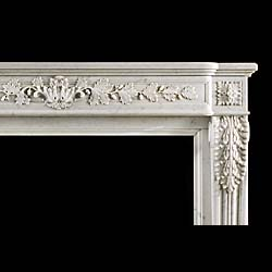 A Louis XVI statuary marble antique fireplace surround