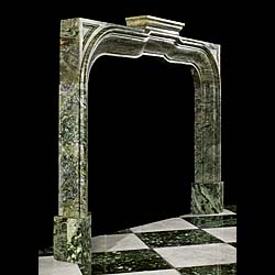 An Arts and Crafts antique marble fireplace mantel