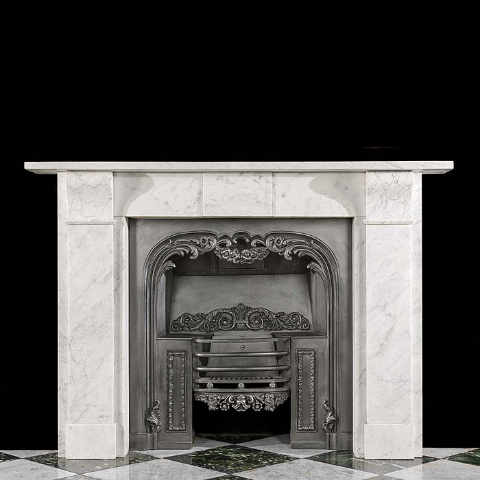 A Victorian antique marble chimneypiece mantel