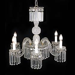 An early 20th century cut glass Regency style chandelier