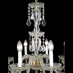 A 20th century eight branch Swarovski chrystal chandelier
