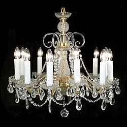 One of four 20th century cut glass chandeliers
