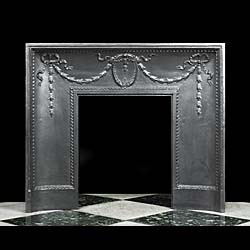 An elegant Louis XVI fireplace insert