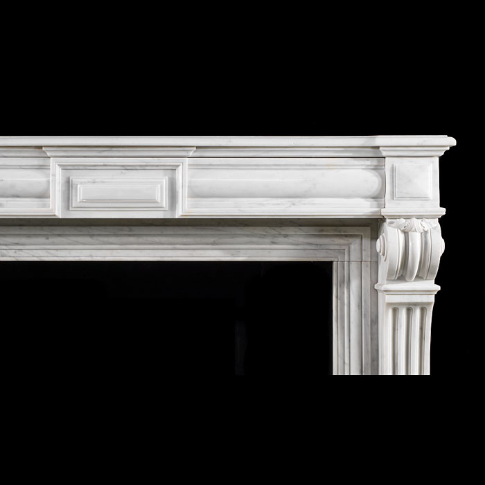 A French Louis XVI marble fireplace surround