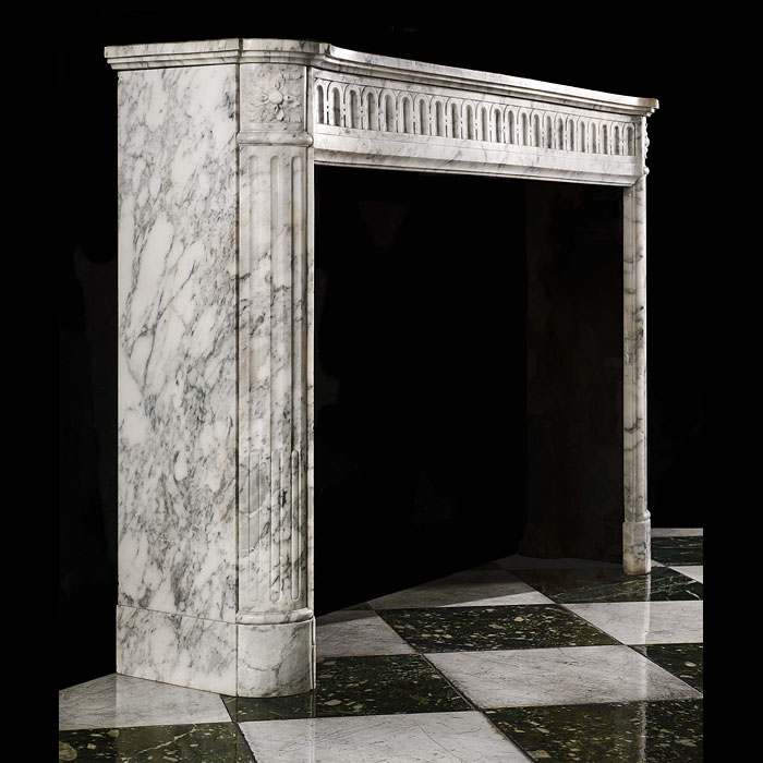 14091 - Arabascato French Regency Marble Fireplace | Westland London