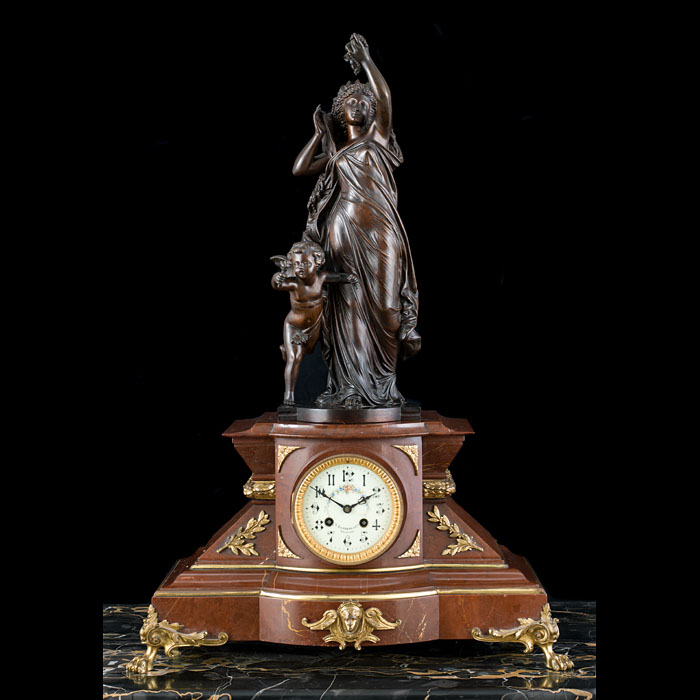 An Antique Marble & Ormolu Mantel Clock