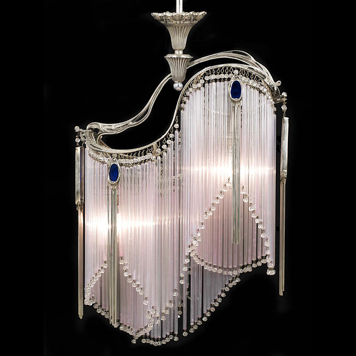 An Art Nouveau Style Nickel Plated Light