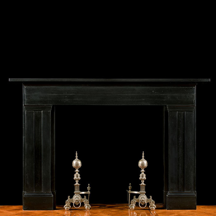 An antique Williams IV style fireplace mantel