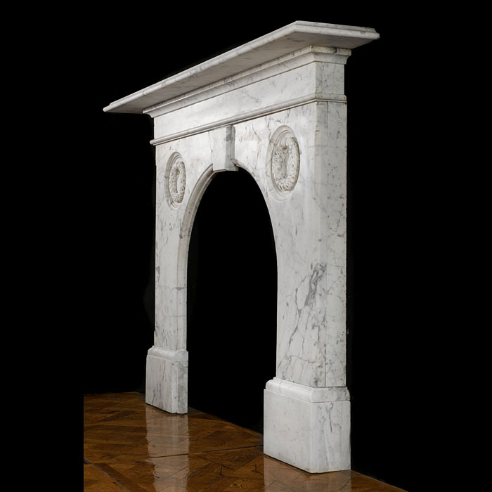 A large Victorian English Marble antique chimneypiece