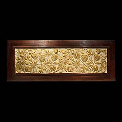 14167: A decorative floral panel.