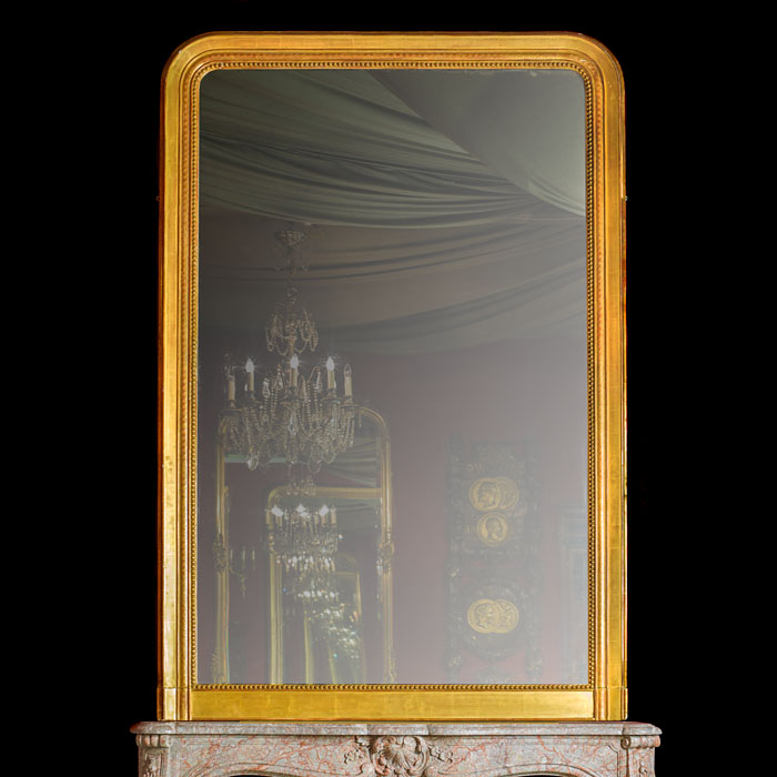 A Tall Victorian Giltwood Overmantel Mirror