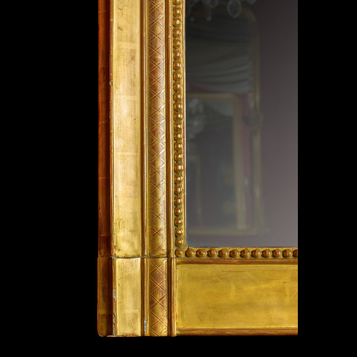 A tall gilt wood antique Victorian over mantel Mirror