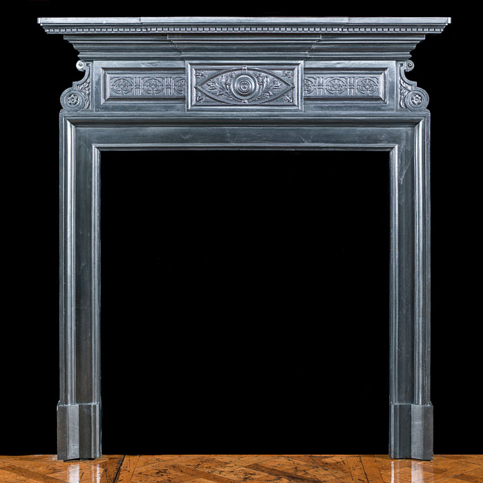 An Aesthetic Movement Cast Iron Fireplacel