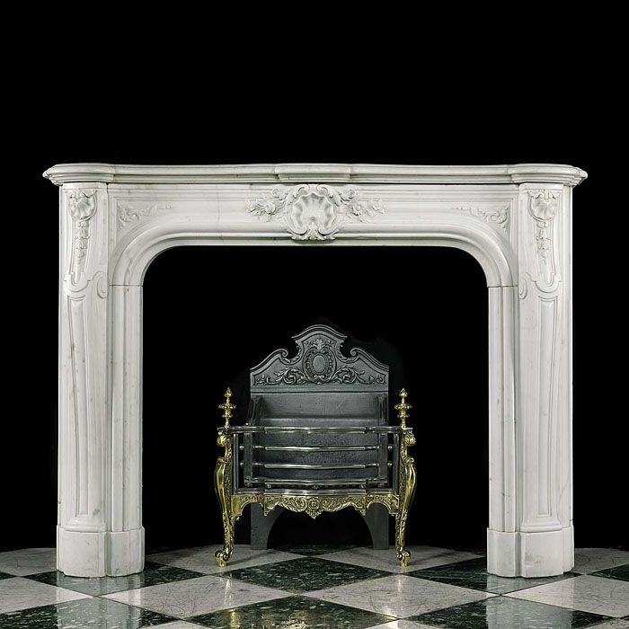 A Statuary Marble Louis XVI Fireplace