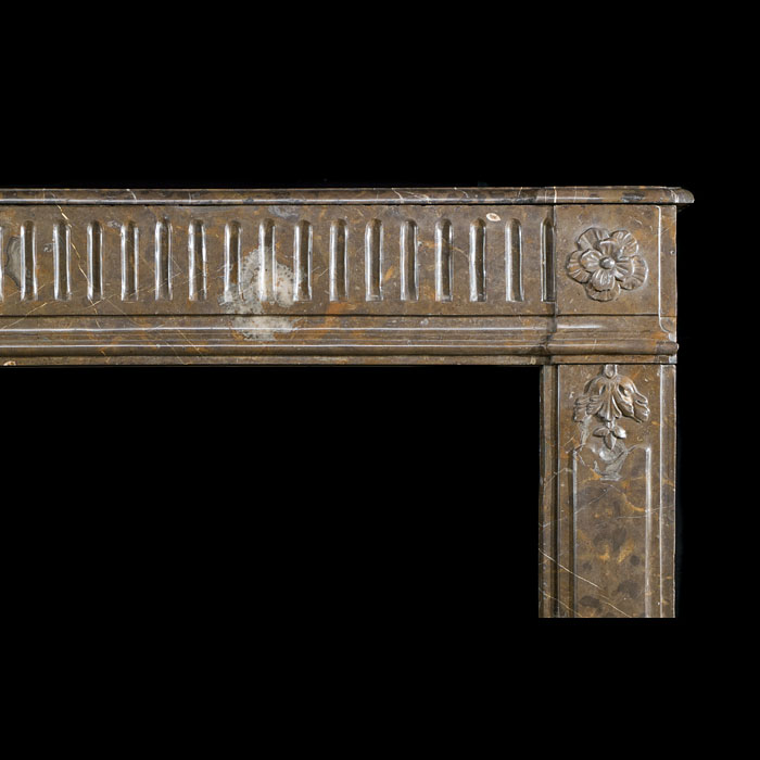 A Louis XVI style antique marble fireplace mantel