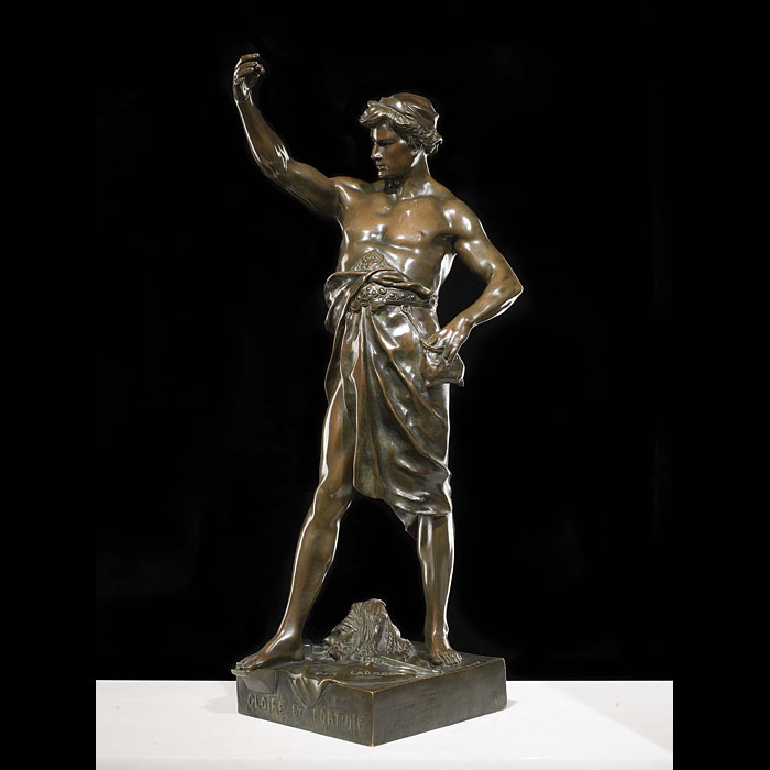 """ Per Laborem, Gloire et Fortune "" an antique French bronze figure"