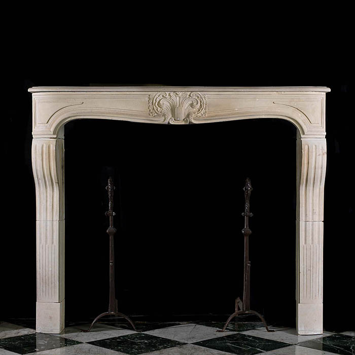 French Baroque style limestone chimneypiece