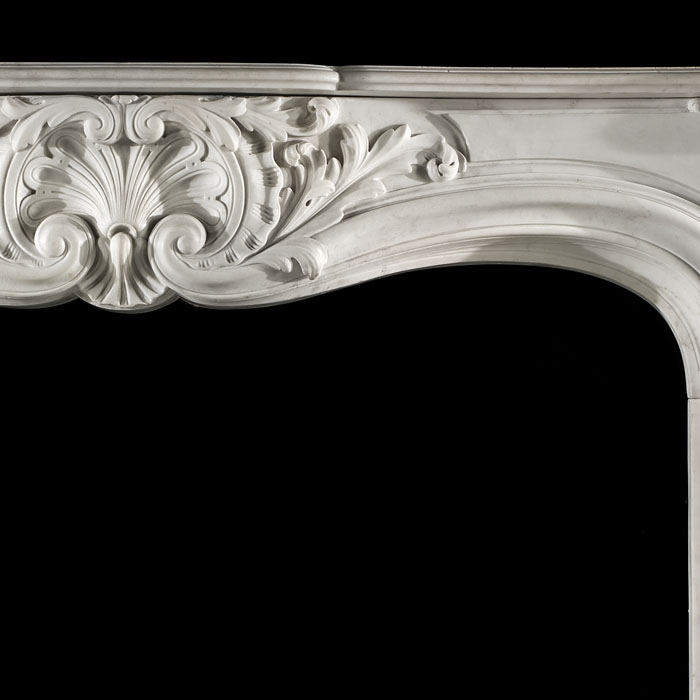 A French Rococo antique marble chimneypiece mantel