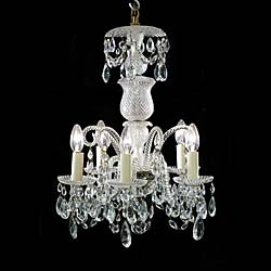 A small classical 20th century cut glass chandelier