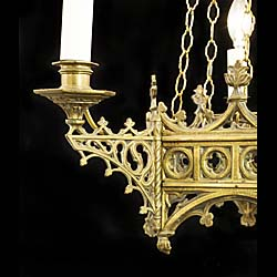A 19th century Gothic Revival chandelier