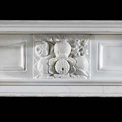 A Statuary Marble Victorian antique chimneypiece