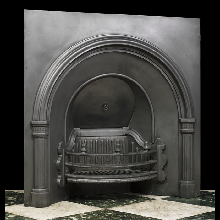 A cast iron Falkirk Foundry Fireplace Insert
