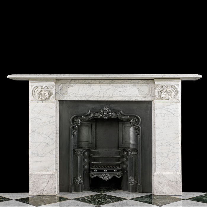 Carrara Marble English Regency Fireplace