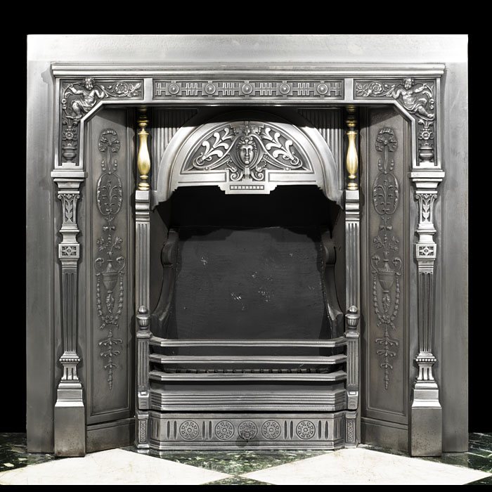 A Victorian Neoclassical style Carron antique insert
