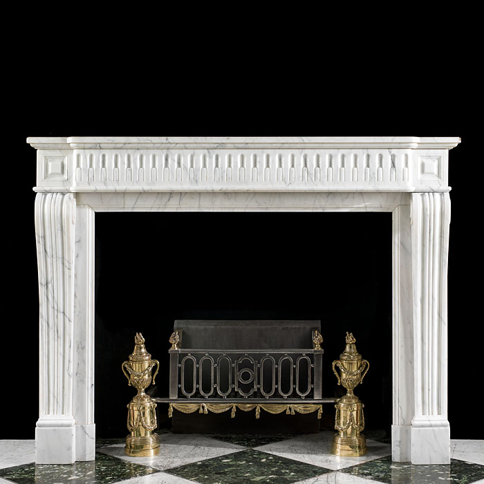 14338 - An antique French Regency marble fireplace mantel