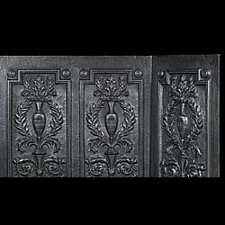Neoclassical styled triple fire panel inserts