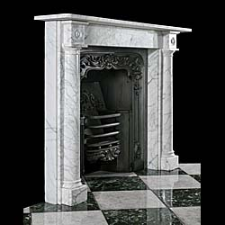 A Regency Pencil Veined antique marble fireplace surround