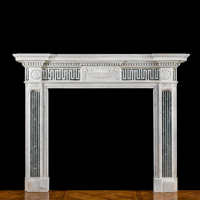 A Georgian Style Statuary Marble Fireplace