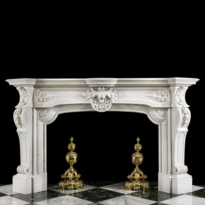 A Statuary Baroque Style Fireplace Mantel