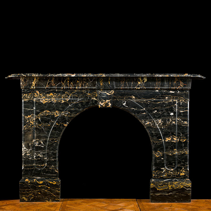 An Antique Portoro Marble Fireplace Surround