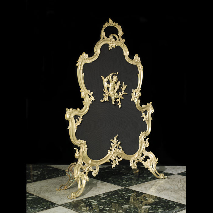 French Rococo style 20th century bronze fire screen