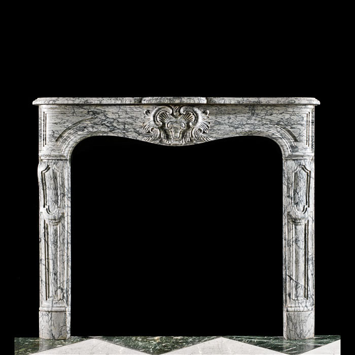 Louis XV Arabascato Marble Fireplace Mantel