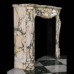 An Arabascato Marble Louis XV chimneypiece